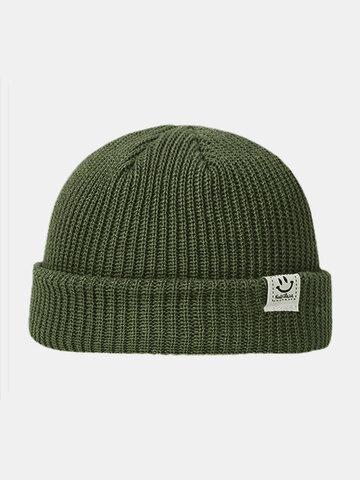 Men & Damen Smile Pattern Warm halten Gestrickt Hut
