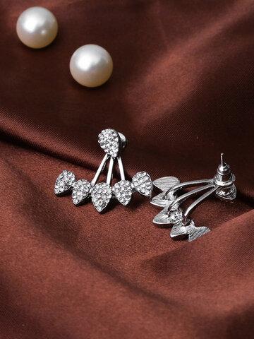 Trendy Flower Rhinestones Earrings