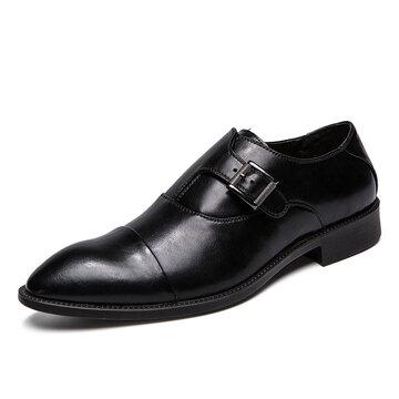 Chaussures Monk à boucle en métal pour homme