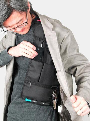 Bolsa invisible multifuncional ocultada en sobaco a prueba de robos bolsa de depósito en bandolera