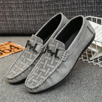 Men Printed Flat Casual Loafers