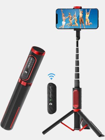 BlitzWolf Lightweight Aluminium All In One Ausziehbarer Telefonstativ Selfie Stick