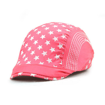 Kids Solid Color Star Beret Sun Hat Children Traveling Baby Summer Visor Cap