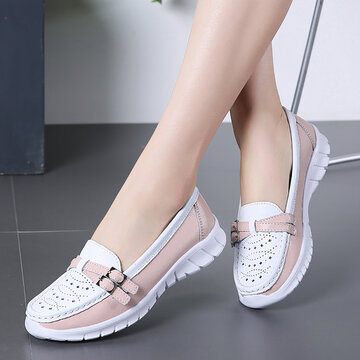 Walking Hollow Slip On Flat Shoes