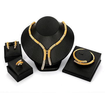 Luxury 18K Gold Jewelry Sets