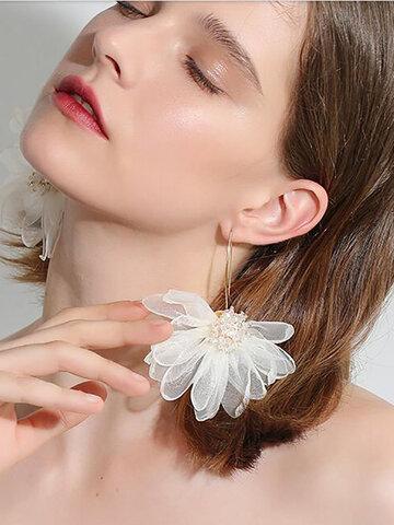 Big Petal Flower Earrings