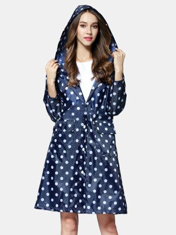 Polka Dot Pattern Fashion Windbreaker Raincoat
