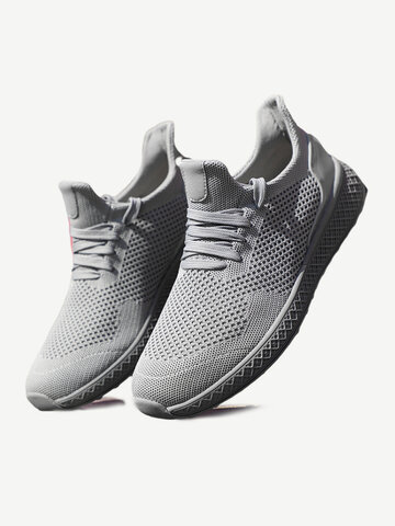 Men Free Knitted Fabric Running Sneakers