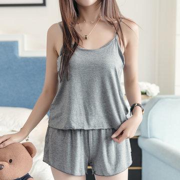 Modal Cotton Casual Sleepwear Suit