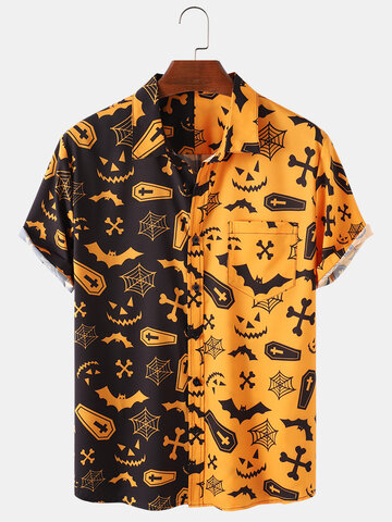 Halloween Pumpkin Patchwork Party Funny Shirt