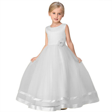 Flower Girls Tulle Long Dress For 4-15Y