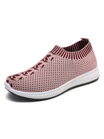 Mesh Slip On Platform Sneakers