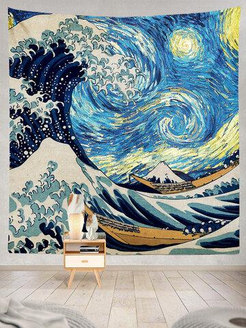 Impressionist Art Natural Landscape Pattern Tapestry Art Home Decoration Living Room Bedroom Decoration