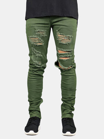 Skinny Ripped Fashion Jeans
