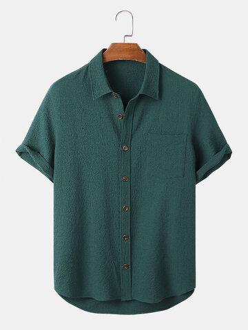 Wrinkled Seersucker Basics Shirt