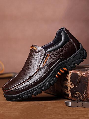 Men Waterproof Non Slip Leather Shoes