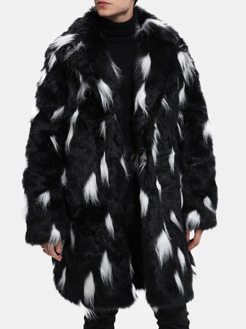 Mid Long Faux Fur Trench Coat