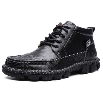 Men Non Slip Wearable Casual Leather Boots