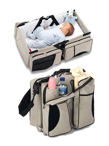 Foldable Baby Travel Bed Bag Out Portable Mother And Infant Bag Multifunctional Large Capacity Mummy Bag