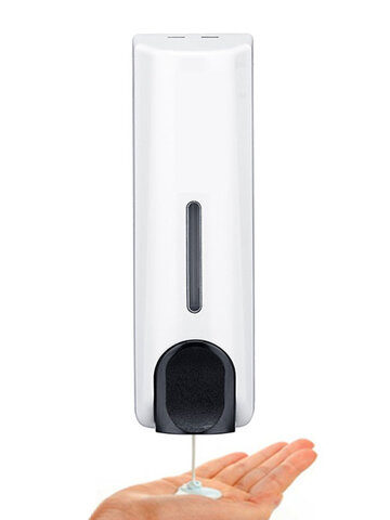 Wall-Mounted Soap Dispenser Shampoo Hotel Hotel Shower Gel Box Hand Sanitizer Press Bottle Free Punch Disinfection