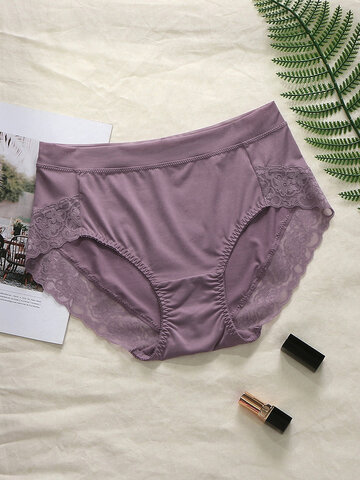 Plus Size Lace Soft High Waisted Panties