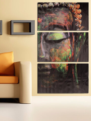 3Pcs/Set Buddha Oil Painting Wall Art Picture Canvas Prints Home Decor Posters
