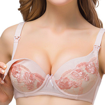 Soft Lace Flower Wireless Nursing Bras