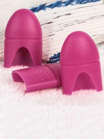 5Pcs/Set Silicon UV Gel Polish Remover Caps Acrylic Nail Art Wrap Cleaner Clip