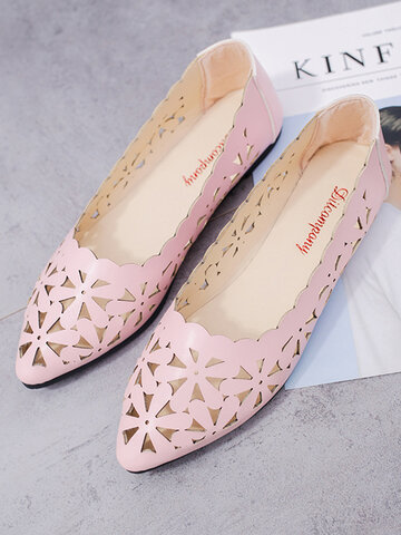 Breathable Hollow Out Ballet Flats