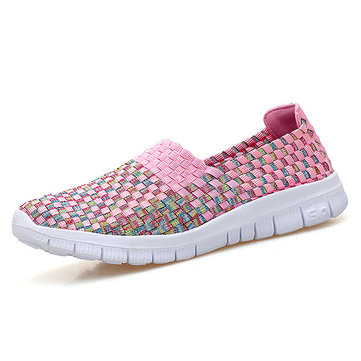Breathable Woven Colorful Casual Shoes