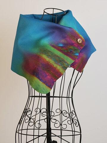 Women's Green Vintage Plain Scarves & Shawls