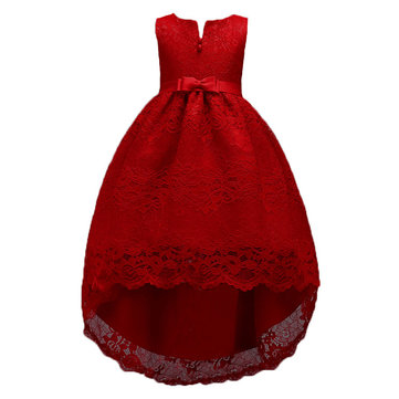 Lace Flower Girl Formal Dress For 4-15Y
