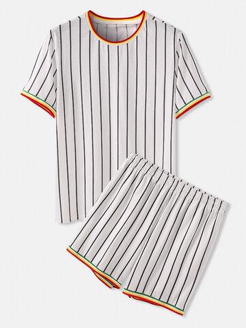 Striped Short Sleeve Sleepwear