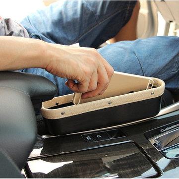 Aufbewahrungsbox aus Leder für Autositz