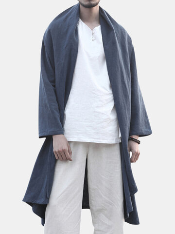 Cardigan mi-long de style chinois