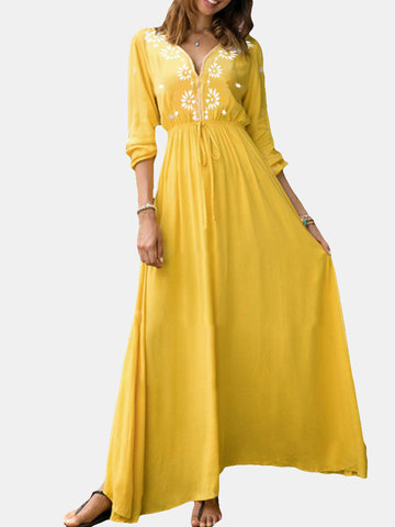 Bohemian Floor Length Maxi Dress