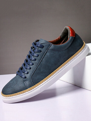 Men Classic Leather Trainers