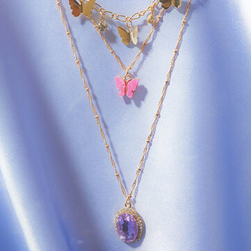 Butterfly Multi-layer Necklace