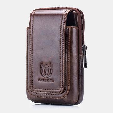 Piel Genuina 6.5 Inch Teléfono Cinturón Bolsa