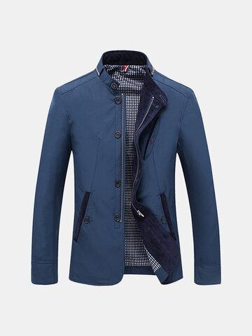 Mens Personality Zip Collar Collar Jacket