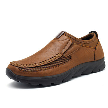 Menico Men Large Size Microfiber Leather Casual Shoes