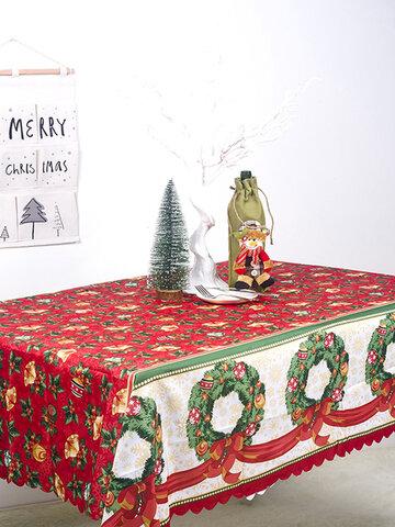 150*180cm Classical Christmas Printed Tablecloth