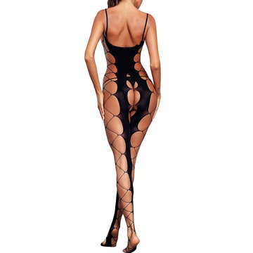 Hollow Out Open Crotch Backless Bodystockings