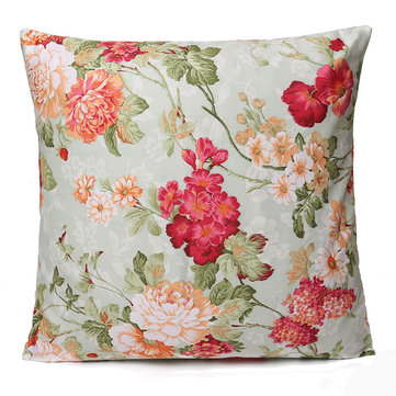 Floral Printing Cushion Cover Throw Pillow Case
