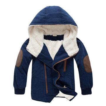 Soft Fleece Boys Thick Coat For 4Y-15Y