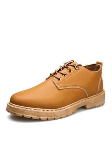 أحذية رجالية عادية بمقدمة دائرية