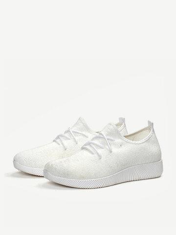 Sneakers con lacci in mesh