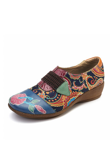 Slip On Leather Flat Shoes