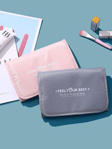 Wash Bag Hanging Detachable Wash Bag Cosmetic Storage Bag Candy Color Cosmetic Bag