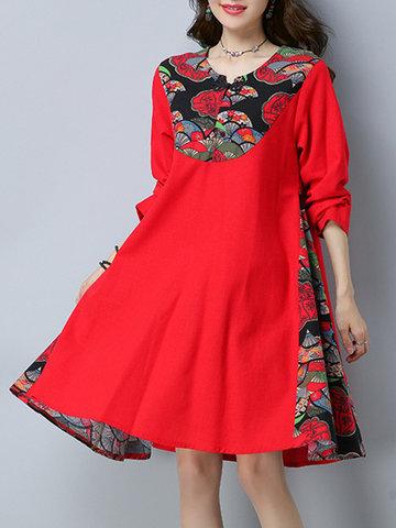 Vintage Floral Patchwork Dresses